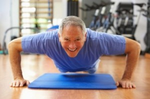 bigstock-Senior-Man-Doing-Press-Ups-In-13917968-300x199